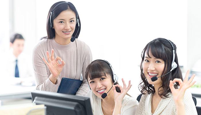 コールセンターの様子。コールセンター全体・スタッフ個人それぞれが目指す指標を明確に持つことが大切